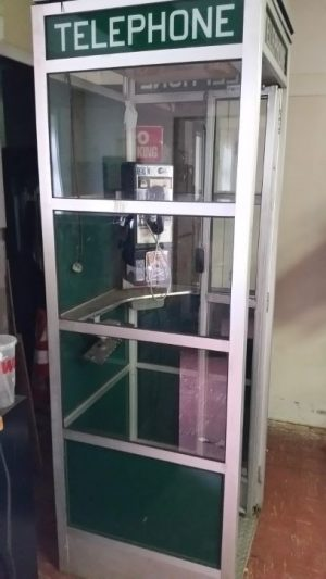 phone booth alumium green