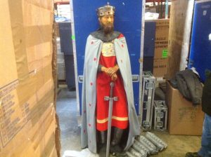 wax museum King with sword