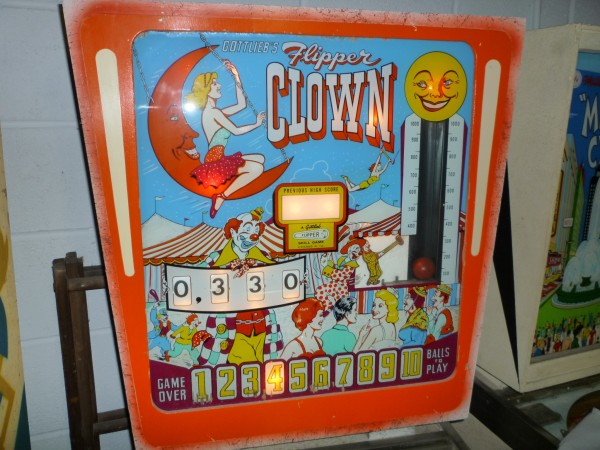 Old Penny Arcade Gottlieb Flipper Clown Pinball Machine
