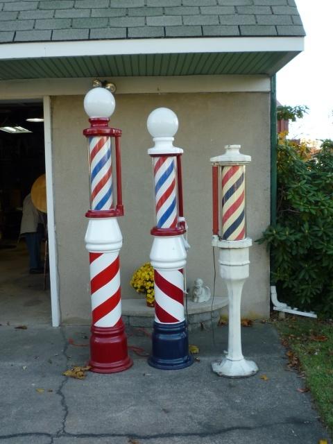 Group Of Antique Barber Shop Street Poles « Obnoxious Antiques