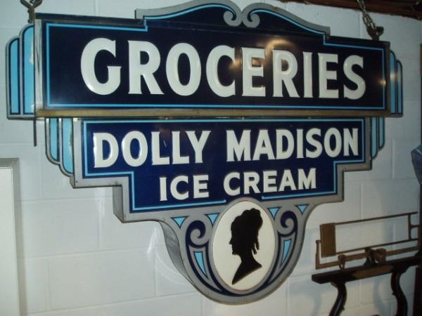 vintage dolly madison ice cream parlor sign  u00ab obnoxious