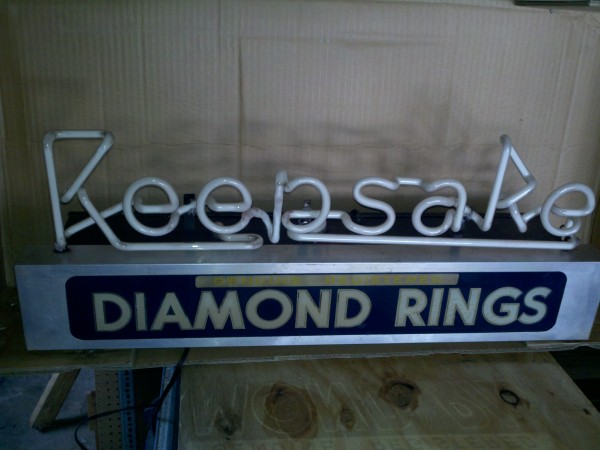 old philadelphia jewelry store keepsake neon sign