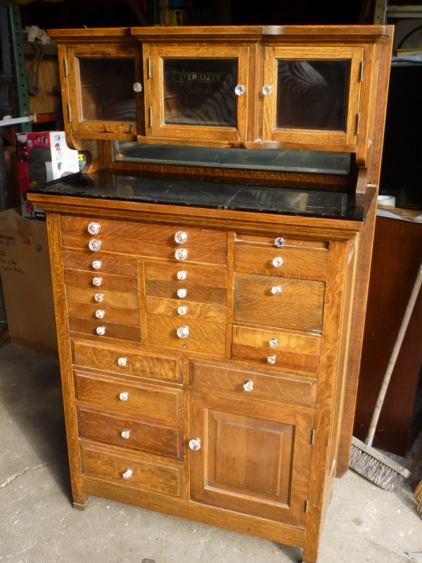 Antique Oak Dentist Cabinet 171 Obnoxious Antiques