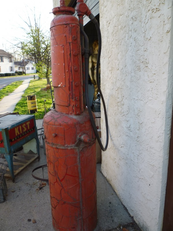 I Need A Gas Station >> Early 1900's Glibert & Barker Atlantic Oil Gas Station Pump « Obnoxious Antiques