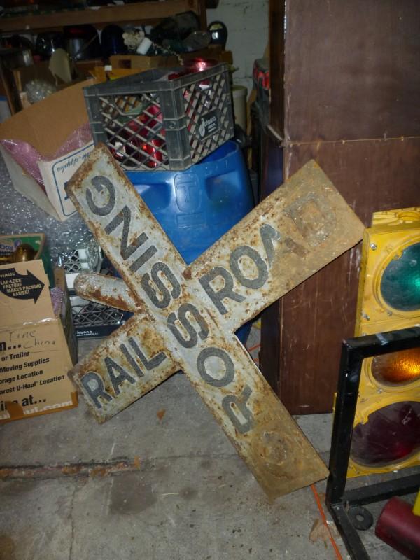 antique cast iron railroad crossing sign  u00ab obnoxious antiques