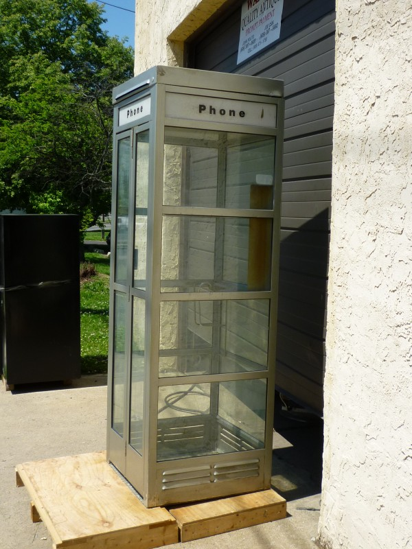 1960's Metal Phone Booth « Obnoxious Antiques