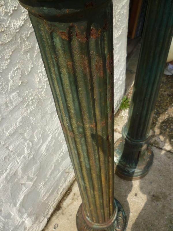 Antique Art Deco Cast Iron City Hall Lamp Post 171 Obnoxious Antiques