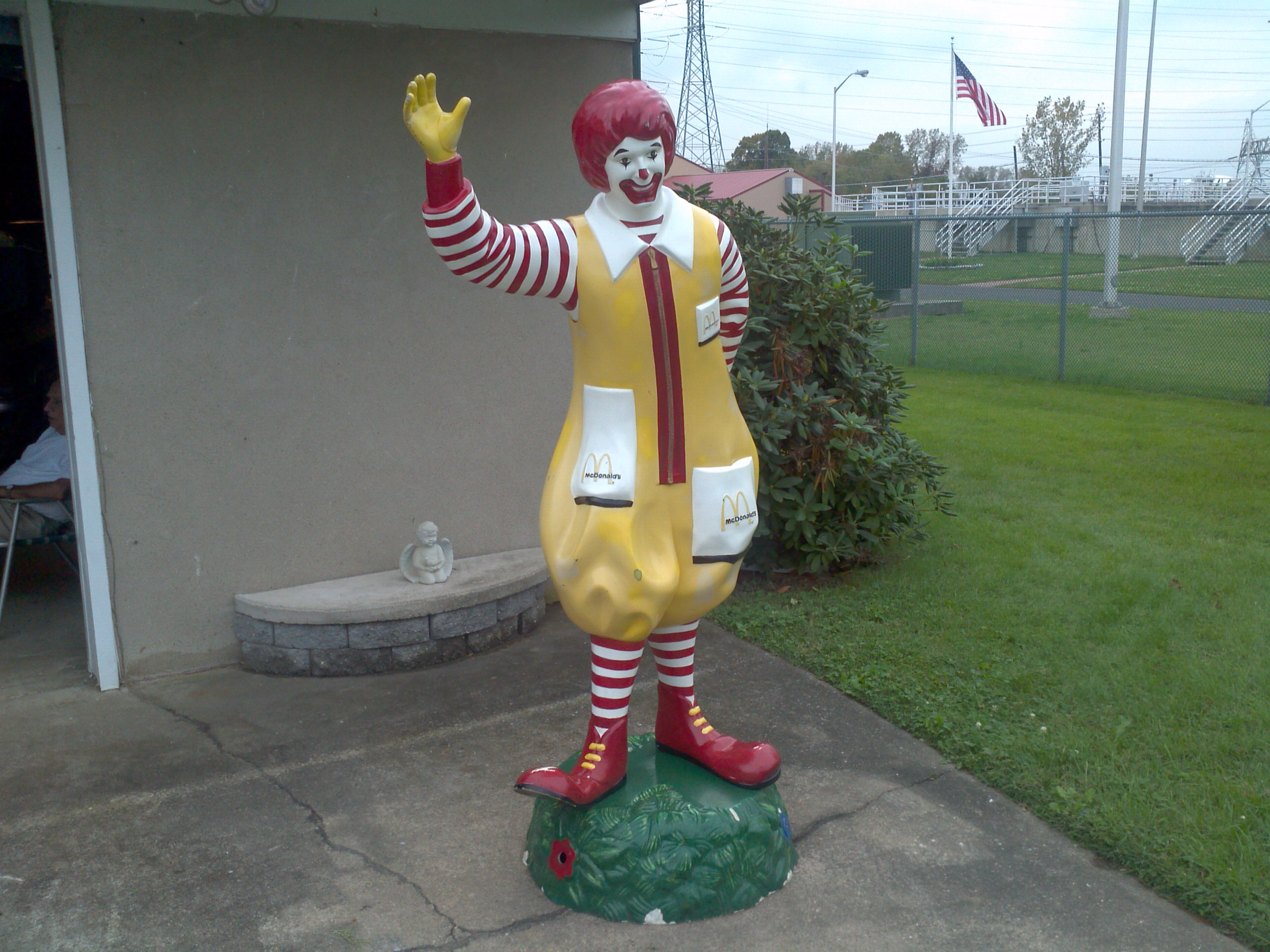 Image result for ronald mcdonald statue
