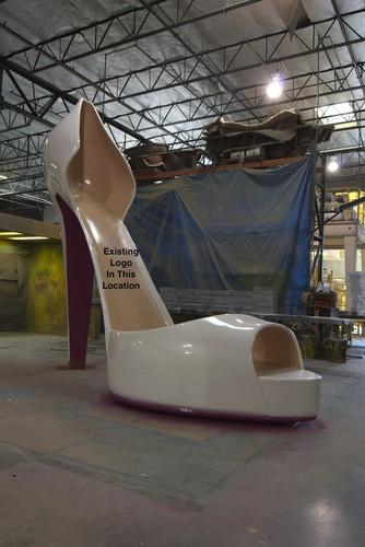 Huge 16 Foot High Heel Shoe Display Sculpture 171 Obnoxious