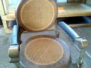 wood barber chair 2