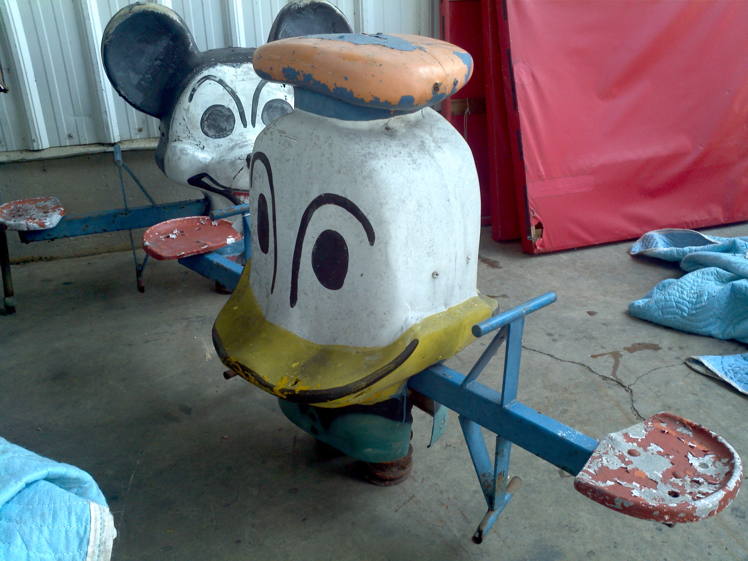 Vintage Donald Duck Playground Spring Ride See Saw