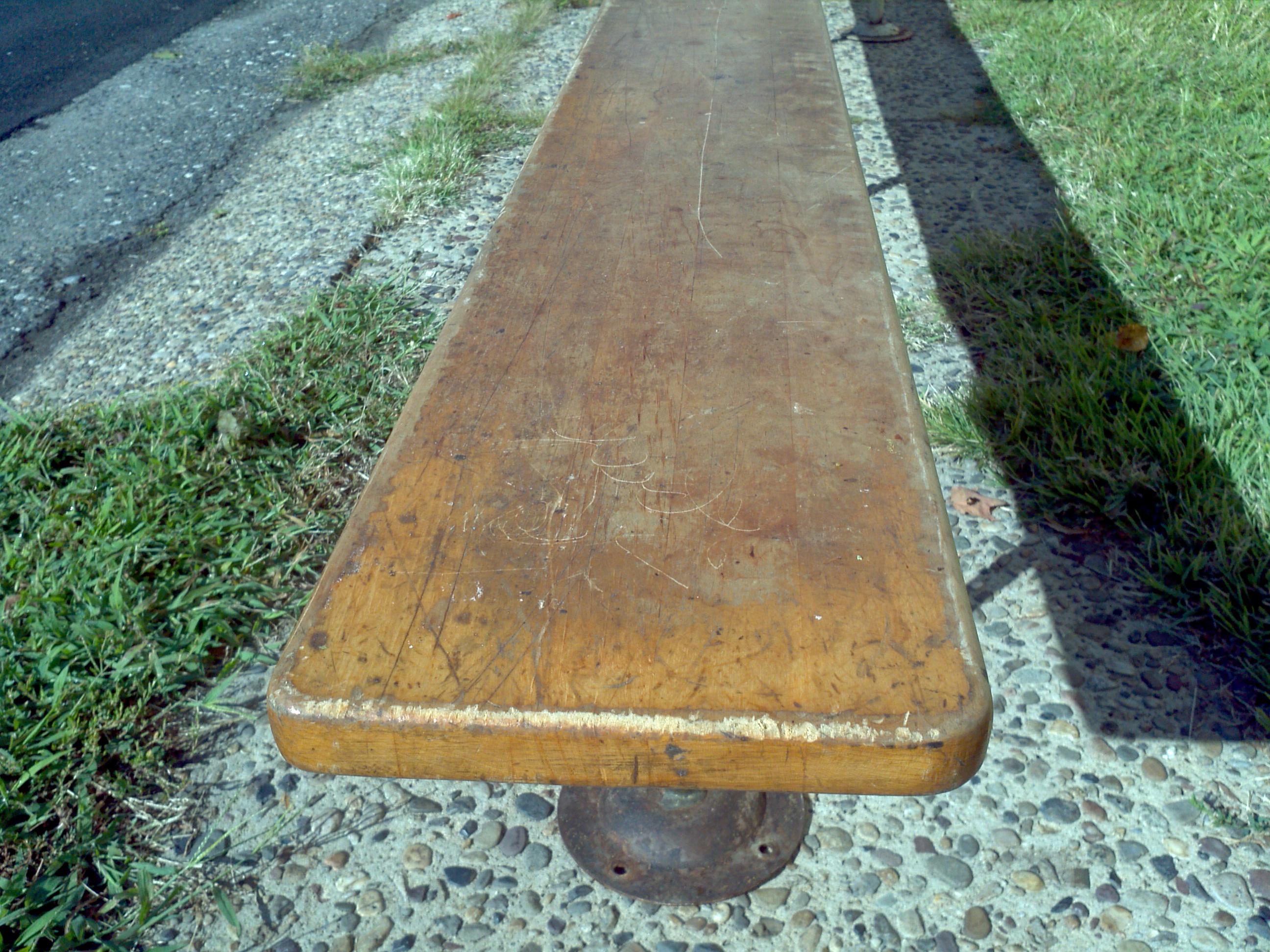 Vintage maple gym locker benches « obnoxious antiques