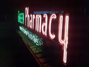 drug pharmacy  neon 4