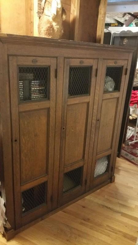 Antique School Wooden Gym Lockers 171 Obnoxious Antiques