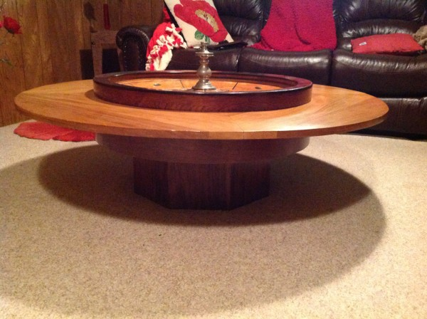 Antique Roulette Wheel In Coffee Table 171 Obnoxious Antiques