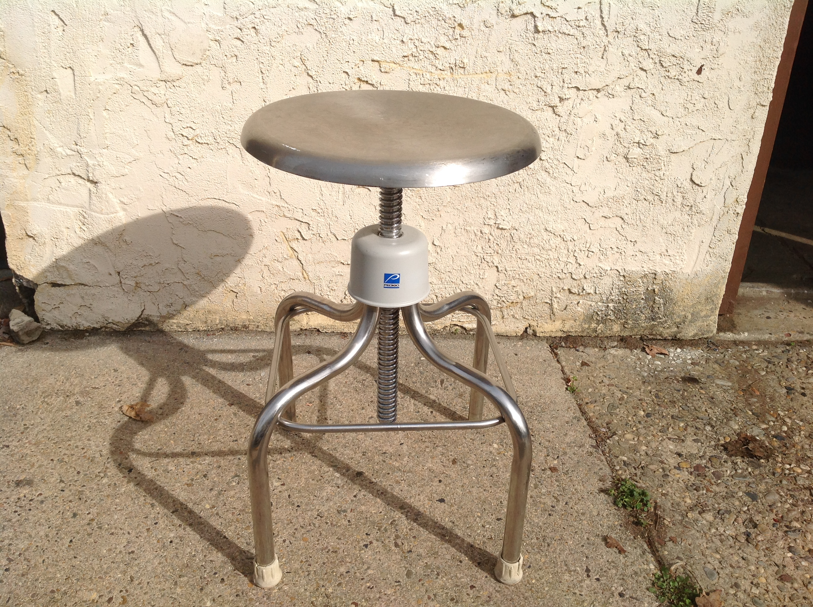 Surprising Vintage Industrial Stainless Steel Doctors Lab Stool Beatyapartments Chair Design Images Beatyapartmentscom