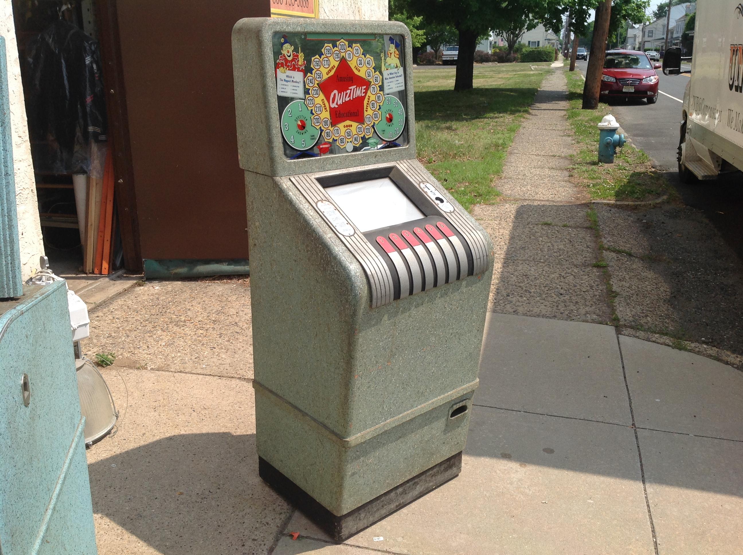 1940's Quiztime Penny Arcade Machine « Obnoxious Antiques