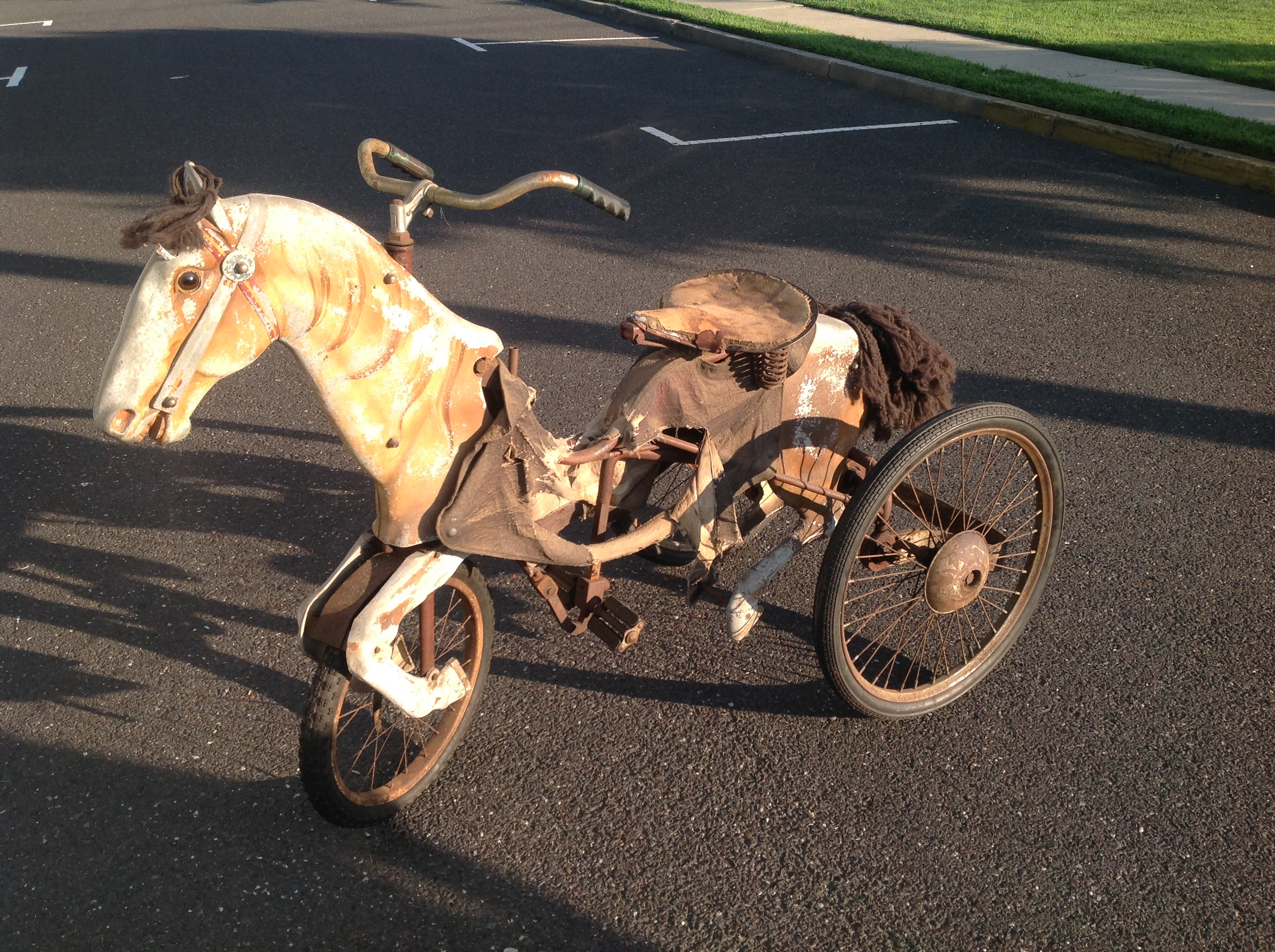 Antique Carnival Articulated Horse Racing Bike 171 Obnoxious