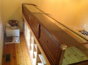 display case antique 8ft 8