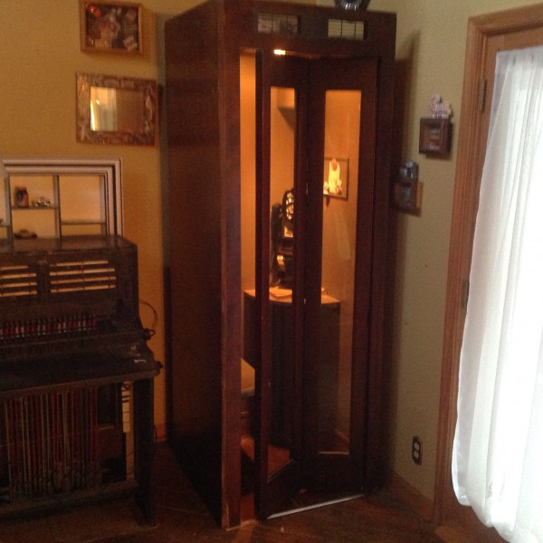 Antique Drug Store Wooden Corner Phone Booth 171 Obnoxious