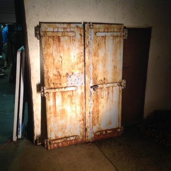Antique Architectural Industrial Steel Factory Doors