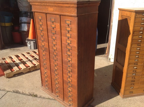 Antique Tall Multi Drawer Document Cabinet 171 Obnoxious