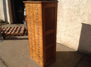 cabinet multi oak tall  2