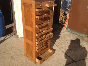 cabinet multi oak tall  4