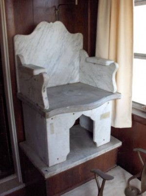 shoe shine stand marble