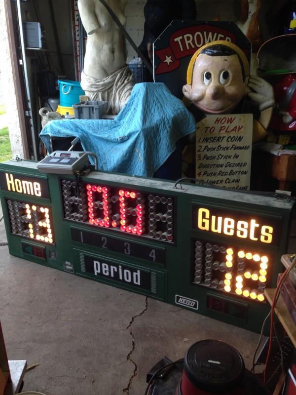 vintage nevco basketball scoreboard  u00ab obnoxious antiques
