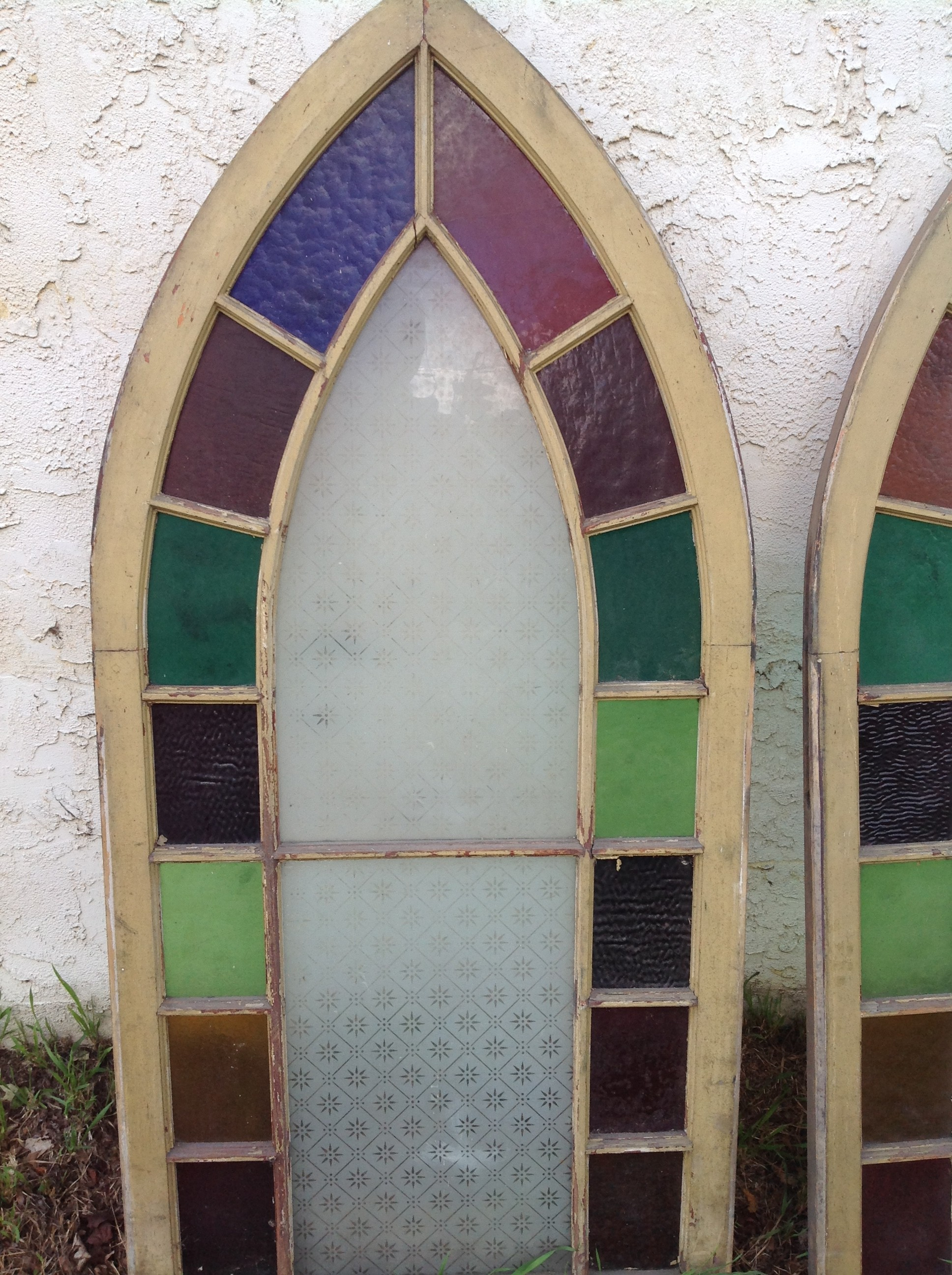 Group Of Antique Church Stained Glass Windows 171 Obnoxious