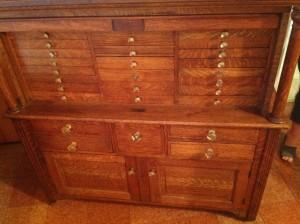 dental cabinet oak 1