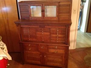 dental cabinet oak 3
