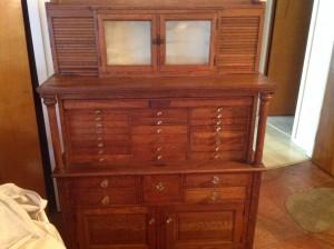 dental cabinet oak 8