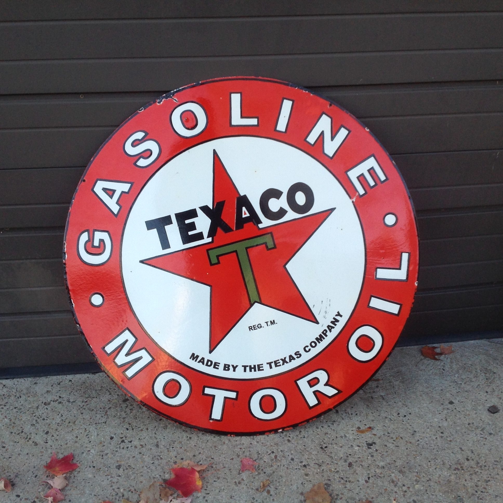 Double Sided Porcelain Texaco Sign « Obnoxious Antiques
