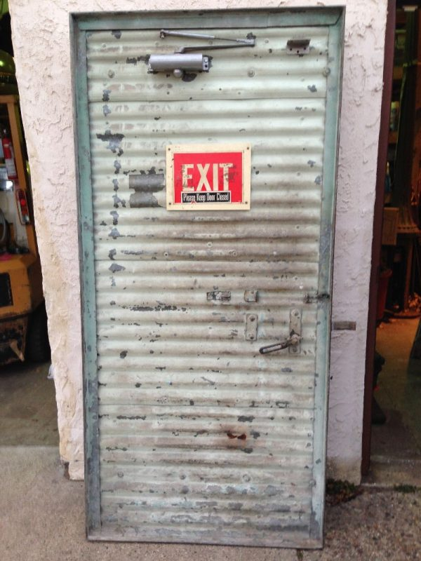 Vintage Industrial Evans Fire Doors 171 Obnoxious Antiques