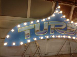 sign amusement park turbo 3