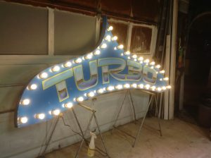 sign amusement park turbo