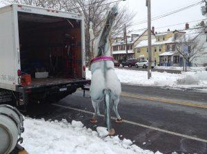 horse fiberglass white 3