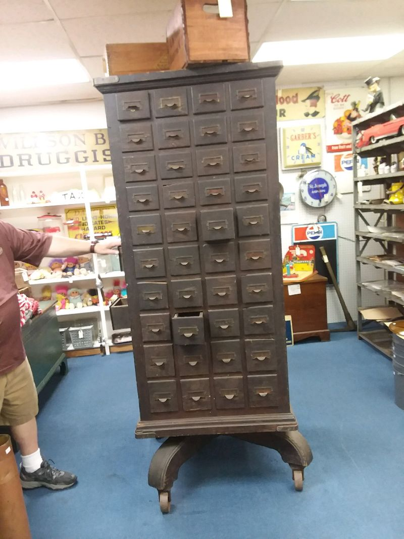 Antique Rotating Multi Drawer Hardware Cabinet 171 Obnoxious