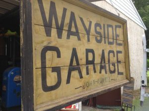 garage sign antique 1