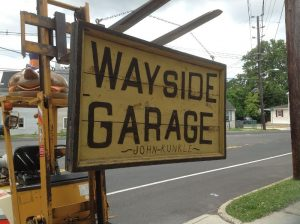 garage sign antique 3