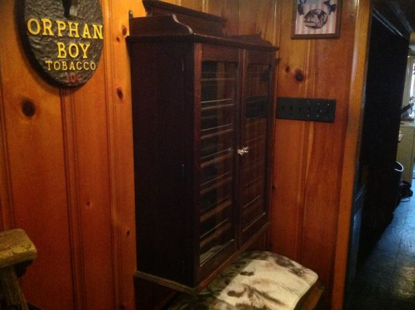 Antique Wood Hanging Apothecary Multi Door Cabinet