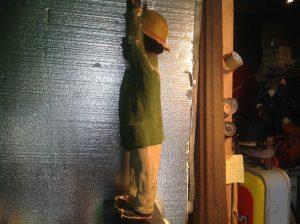 black paper mache statue 9