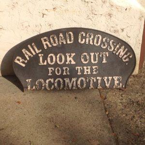 locomotive cast sign 1