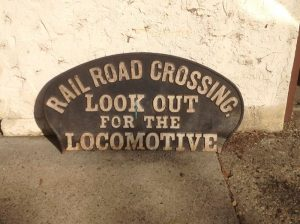 locomotive cast sign 2