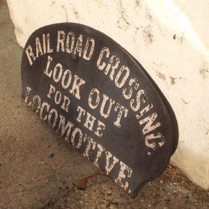 locomotive cast sign