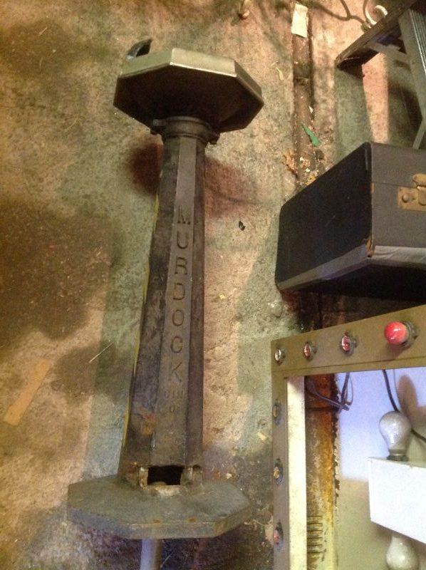 antique murdock cast iron industrial drinking fountain