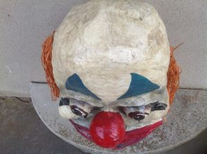 clown head paper mache 1