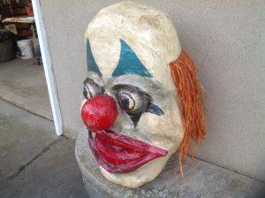 clown head paper mache 2